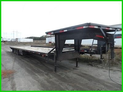 40 used car hauler equipment trailer wood deck gooseneck I beam Frame Hot Shot
