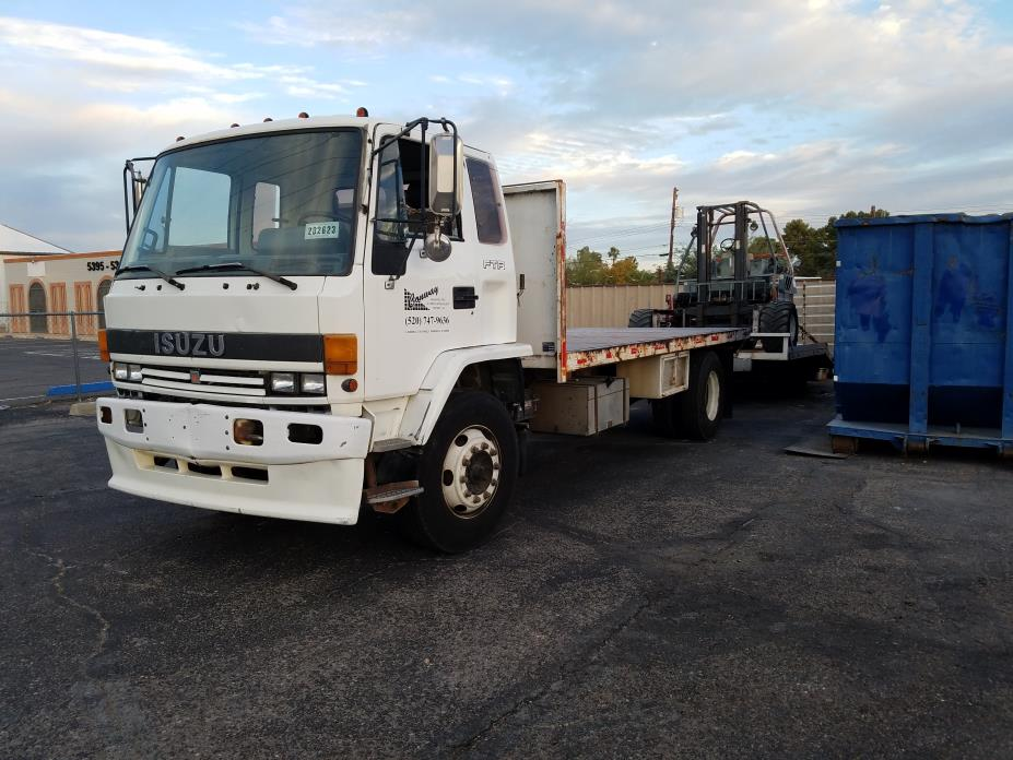 1990 Isuzu Ftr  Flatbed Truck