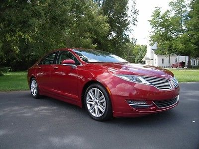 2013 Lincoln MKZ/Zephyr Base 2013 Lincoln MKZ Base 52149 Miles Ruby Red Metallic Tinted Clearcoat 4D Sedan Ec