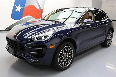 2015 Porsche Macan Turbo Sport Utility 4-Door 2015 PORSCHE MACAN TURBO AWD PANO ROOF NAV 20'S 40K MI #B90474 Texas Direct Auto