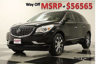2017 Buick Enclave MSRP$56565 Premium AWD Sunroof DVD Black New Heated Cooled Chocachinno Leather Captains Navigation 15 16 2016 17 V6