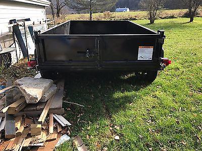 2017 Carry On 6x10,10k,Low Pro. Dump trailer, Barn Door/Gravel gate option, NEW