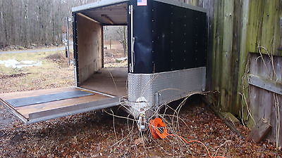 2001 EXPEDITION ALUMINUM V NOSE 2 PLACE SNOWMOBILE TRAILER 12FT PLUS 4FT V