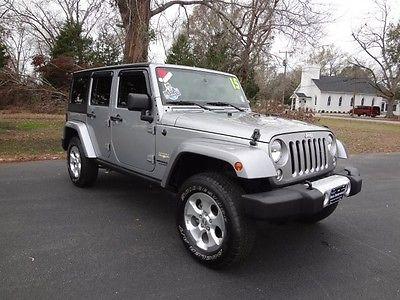2015 Jeep Wrangler Unlimited Sahara 2015 Jeep Wrangler Unlimited Sahara 39037 Miles Billet Silver Metallic Clearcoat