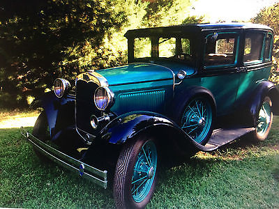 1930 Ford Model A stock style 1930 Ford 4 dr Model A blue & black, nice interior and paint, new tires,