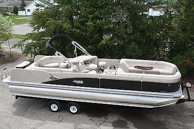 27  Tahoe Cascade Entertainer triple tube pontoon boat