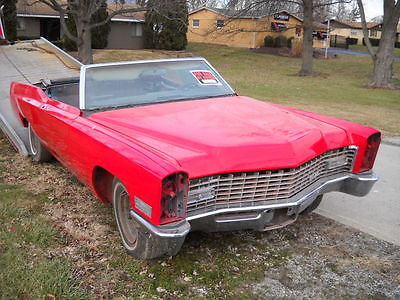 1967 Cadillac Convertible  1967 Cadillac Deville Convertible new paint needs finished