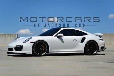 2015 Porsche 911 Turbo S custom 15 Turbo S GIAC AWE exhaust 21 custom Modulare wheels lowered 8k miles 2016 17