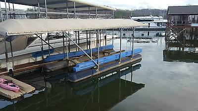 hydro hoist, pontoon lift, covered dock,free floating, holds a 47' fountain boat