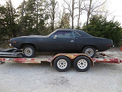 1974 Plymouth Barracuda Cuda 1974 Plymouth 'Cuda - REAL BLACK on BLACK BS23 'CUDA!!