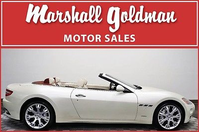 2014 Maserati Gran Turismo Convertible 2014 Maserati Granturismo Spider Bianco Eldorado Pearl Beige 3,039 miles Navi