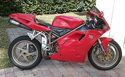 DUCATI 748 BIPOSTO 1999 SINGLE SIDED RED REAR PADDOCK STAND