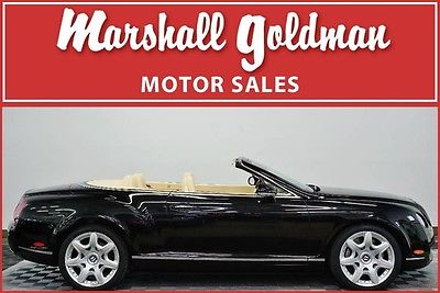 2008 Bentley Continental GT GTC Convertible 2008 Bentley GTC Beluga Magnolia lthr 26,700 miles Nav Mulliner Htd seats 20's