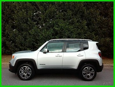 2016 Jeep Renegade Limited NEW 16 JEEP RENEGADE 4WD LIMITED LEATHER NAV - FREE SHIP - $332 P/MO, $200 DOWN!