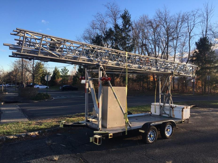 Trailer and Tower for telecom CW test
