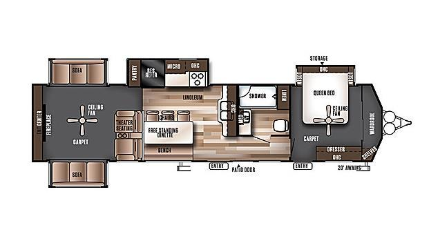 2017 Forest River Salem Villa Estate 395RET