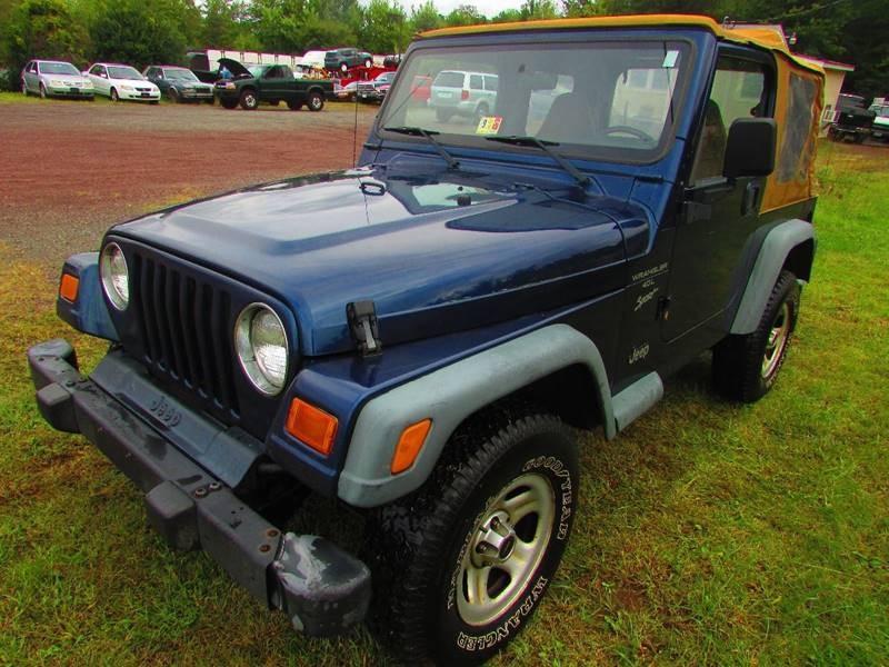 2000 Jeep Wrangler Sport 2dr 4WD SUV