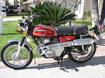 1972 Honda CL  1972 HONDA CL175 SCRAMBLER VINTAGE MOTORCYCLE ALL ORIGINAL 3126 MILES SURVIVOR
