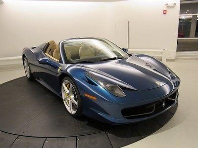 2013 Ferrari 458 -- 458 Spider, Blu Abu Dhabi Metallic with 6,869 Miles available now!