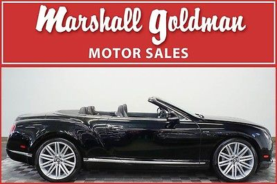 2014 Bentley Continental GT GTC Speed 2014 Bentley Continental GTC Speed Beluga Beluga diamond quilted 15,700 miles