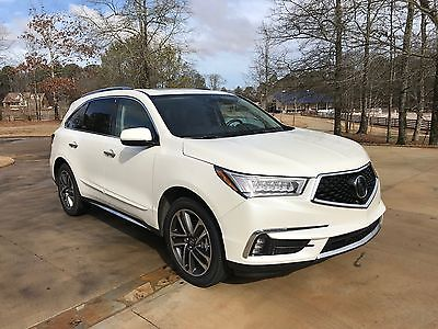 2017 Acura MDX Advance Package FWD MDX ADVANCE White ext / Expresso interior, Fully loaded