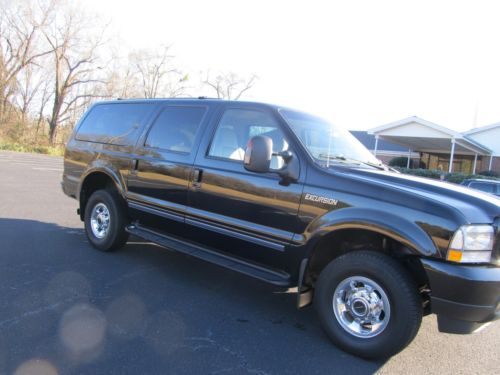 2004 Ford Excursion Limited SUV 6.0 Diesel, 4x4 2004 ford excursion limited 4 x 4 suv black 207 k miles 6.0 diesel 3 rd row seat