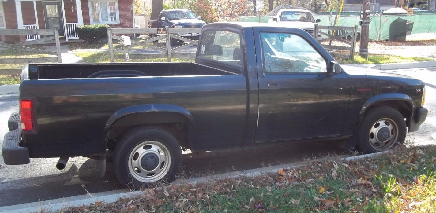 1995 Dodge Dakota ws 95 DODGE DAKOTA ws V6 pick up BLACK TRUCK 2wd LOW MILEAGE 71K original owner