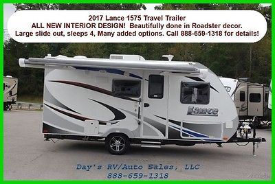 2017 Lance Travel Trailers 1575 NEW Bumper Pull Behind Camper 1/2 TON Towable RV