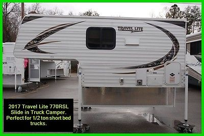 2017 Travel Lite Super Lite 770RSL Slide In Truck Camper 1/2 Ton Short Bed RV