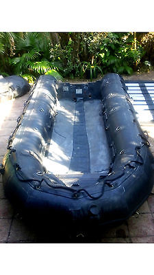 ZODIAC F-470 CRRC inflatable boat raft 15.5' MARS 35hp outboard(Navy SEAL Rescue