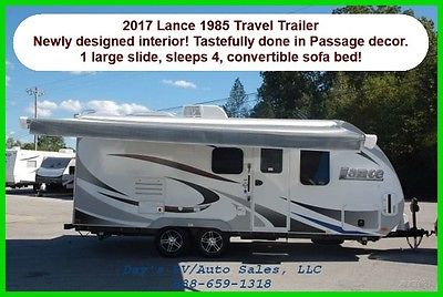 2017 Lance 1985 Travel Trailer Bumper Pull Behind Camper 1/2 Ton Towable New RV