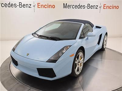 2007 Lamborghini Gallardo -- 2007 Lamborghini Gallardo convertible, LOW MILES, WELL MAINTAINED, IMMACULATE!
