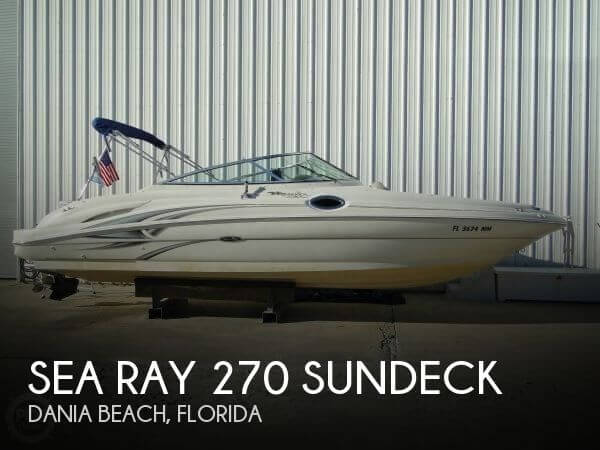 2004 Sea Ray 270 Sundeck