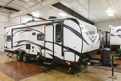 New 2015 27HFS Lightweight Lite Toy Hauler Travel Trailer Camper with Slide Out