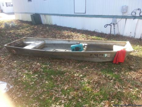 14ft jon boat and 2.7hp 2 stroke engine
