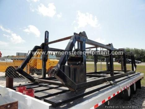 Used (4) Four-Position Reel Carrier Stand - 00957