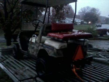 yamaha gas golf cart lifted, camo