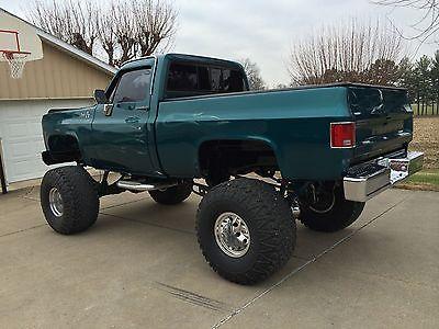 GMC : Sierra 1500 Sierra 1978 4 wd custom show pickup truck cayman green pearl gm zz 4 350 v 8 lift w turbo