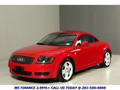 Audi : TT 225HP QUATTRO COUPE CLEAN CARFAX 88K LOW MILES 6-SPEED QUATTRO AWD RED SPOILER BOSE ALLOYS HEATSEATS