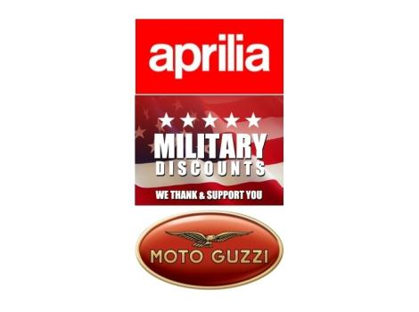 2015 Aprilia Moto Guzzi MILITARY DISCOUNT $600 OFF APRILIA AND MOTO GUZZI