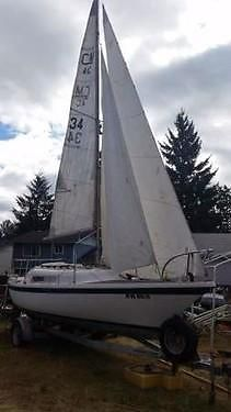 Clipper Marine 23 Poptop sailboat & trailer