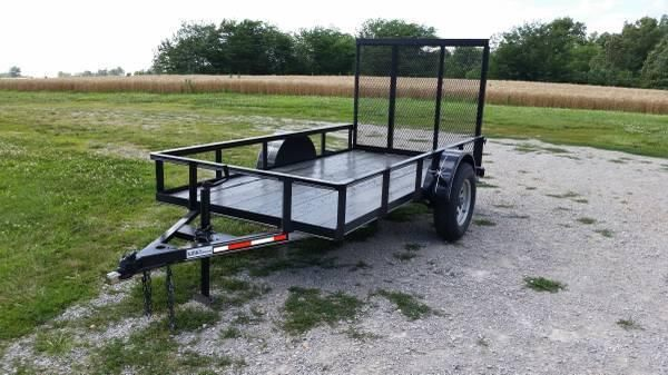 New 2014 Model 5 X 10 Utility Trailer w/ 4ft Gate *3500lb Axle*