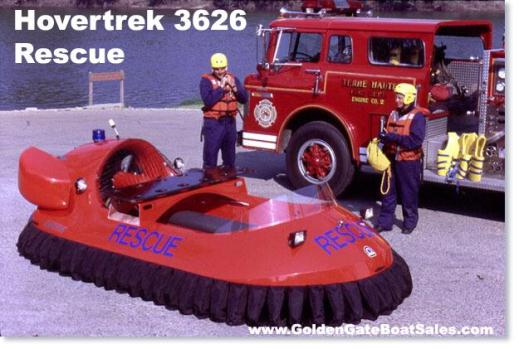 2015, 14' Neoteric Rescue Hovercraft 3626 Deluxe