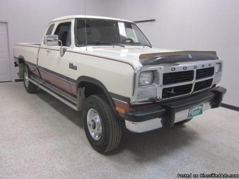 1992 Dodge Ram 250 2500 4x4 5.9 Diesel Quad Cab Automatic Long Bed