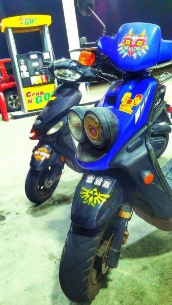 2008 yamaha zuma bws big wheel scooter 50cc