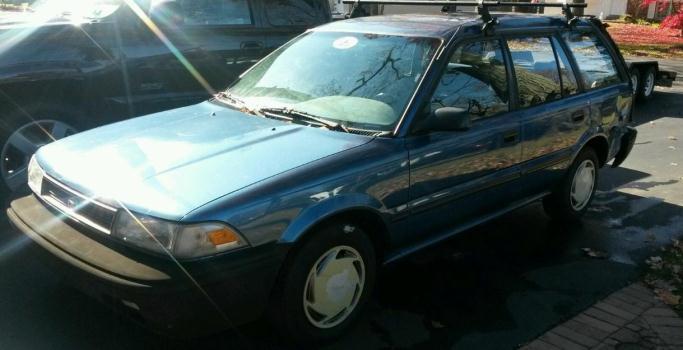 1991 Toyota Corolla wagon, auto, ac, roof rack, runs great!