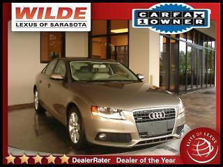 Audi : A4 Sdn Auto 2011 audi a 4 quattro 2.0 t premium carfax cert 1 owner