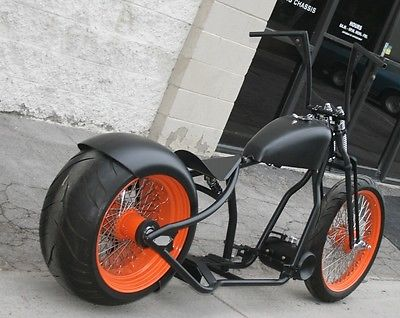 School Custom Motorcycles : School Custom Bobber MMW OLD SCHOOL OG 300 TIRE CHOP BOBBER RIGID ROLLING CHASSIS