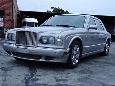 Bentley : Arnage R Sedan 2002 bentley arnage damage salvage only 37 k miles loaded luxurious wont last