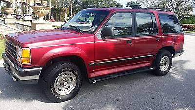 Ford : Explorer 1994 ford explorer suv 4 door red tan leather 6 cylinder 4.0 l 4 x 4 4 wd 1995